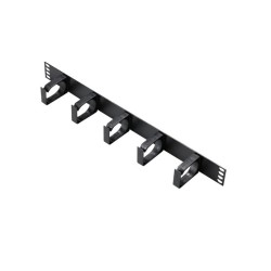 1 U 5 Ring Metal Cable Tidy Bar for Cabinets, General Tidy Bar