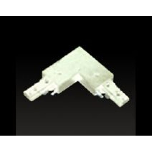 Track L Connector With Power Feed White