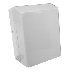 IP65 Rated 1 Gang Outdoor Single Socket Box in Light Grey
