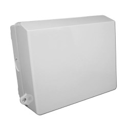 IP65 Rated 2 Gang Outdoor Double Socket Box in Light Grey
