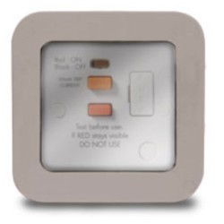 Weatherproof RCD Spur, 13A RCD protection fused connection unit (latching, IP66 rated)