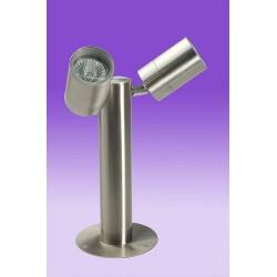 Twin Lamp Ground Post Spots, Two GU10 Spots outdoor stand light / post light