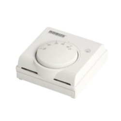 White Thermostat 10A for heating or cooling control applications