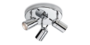 Bathroom Ceiling Lights - Atlantic Chrome Triple Spotlight