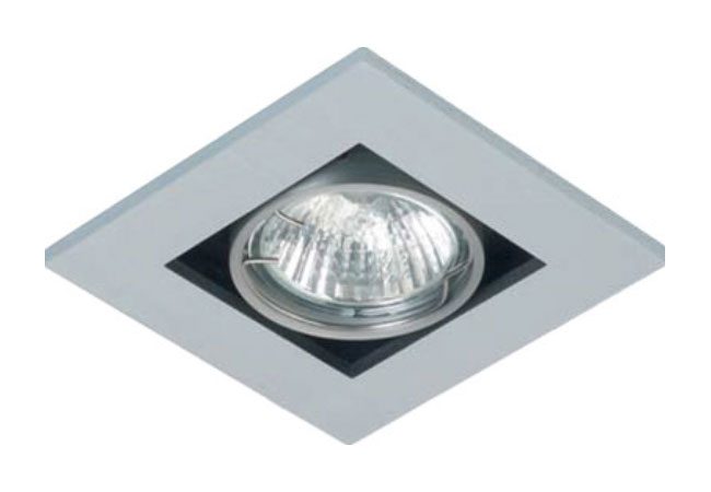 Dl1 Single Square Adjustable Downlight Mains Voltage