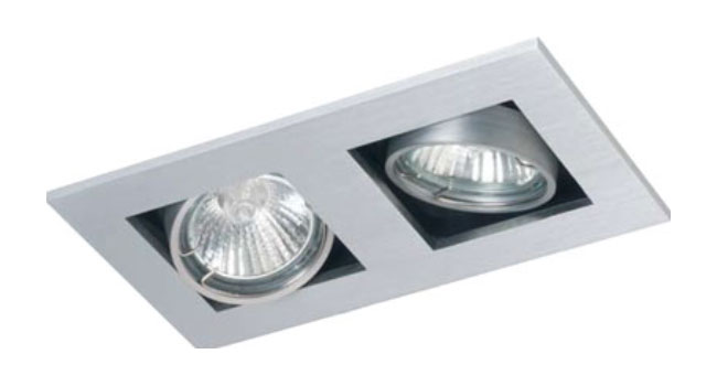 Dl2 Twin Square Adjustable Downlight Mains Voltage