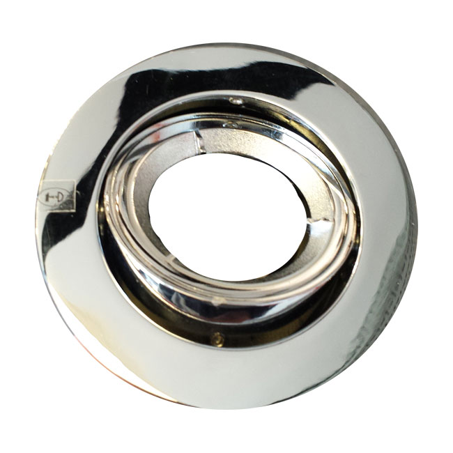 Frtmbch 240v Gu10 Fire Rated Tilting Downlight In Chrome