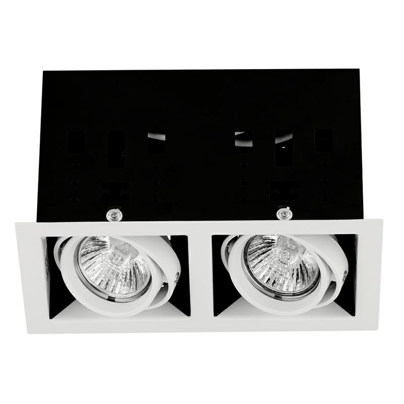 Mgu102ss Adjustable Twin Recessed Downlight In Satin