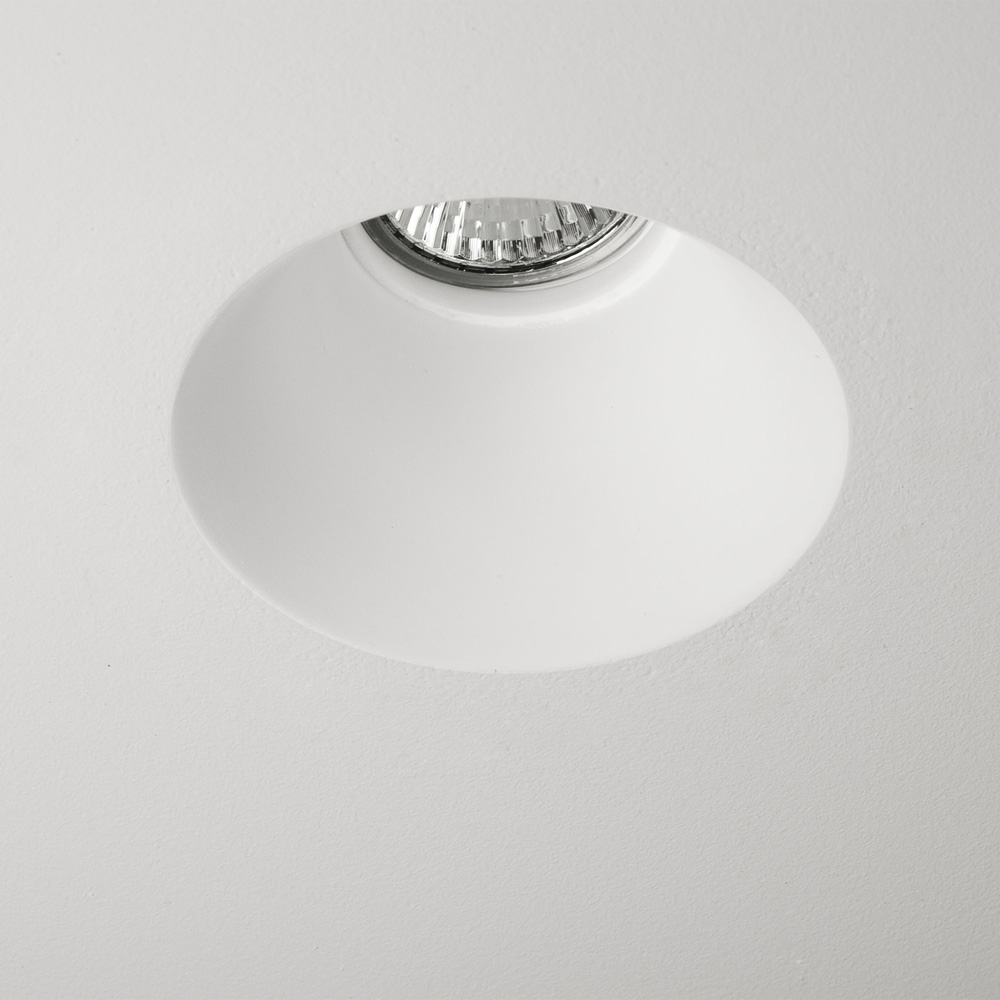 Small Decorative Spotlight: Blanco Round Plaster Ceiling Recessed Fixed