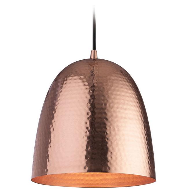 Firstlight 8674 Assam Copper Pendant Light With Matt Copper Interior E27 60w Max 1340mm Drop