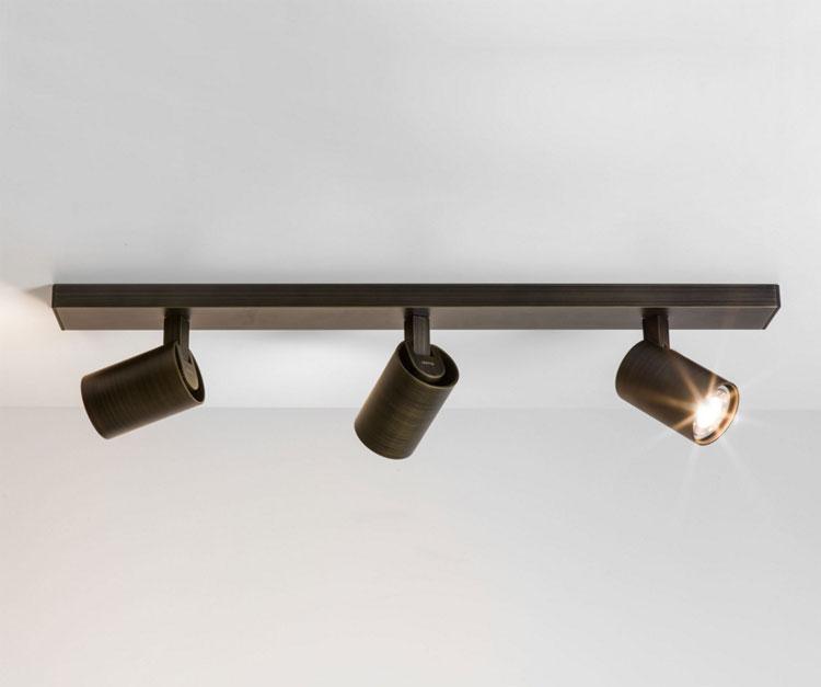 interior spot lighting. ax6147 ascoli triple bar ceiling spotlight in bronze 3 x gu10 50w for interior lighting astro 6147 spot i