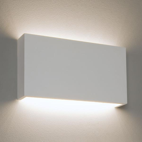 Plaster Wall Lights Up Down : 14W LED Rio 325 Plaster Wall Light in White, Paintable Up-and-Down Wall Lamp AX7172 Astro ...