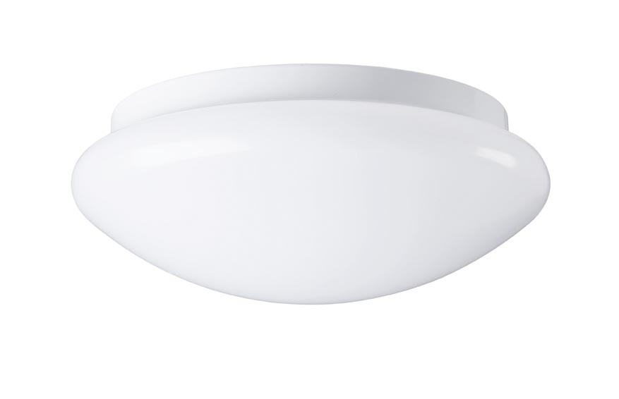 Firstlight Slimline Led Bathroom Wall Light In White: IP44 24W Round LED Light Warm White 3000K 1500lm