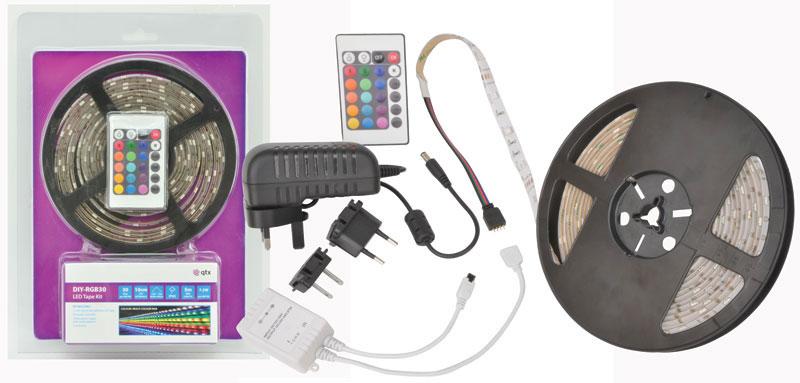 led flexible strip light kit 5m multi color diy rgb adhesive led tape. Black Bedroom Furniture Sets. Home Design Ideas