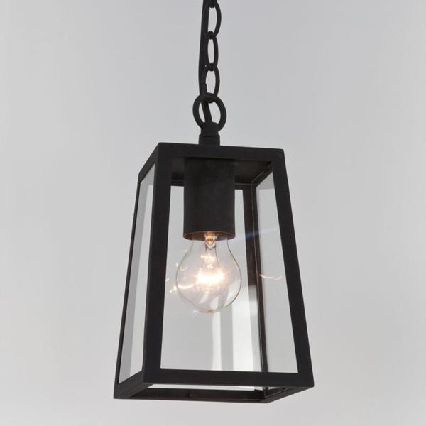 Ax7112 Calvi Black Pendant Ip23 With Clear Glass For