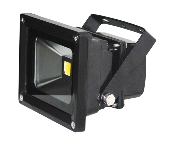 led floodlight in black robust indoor outdoor energy saving flood