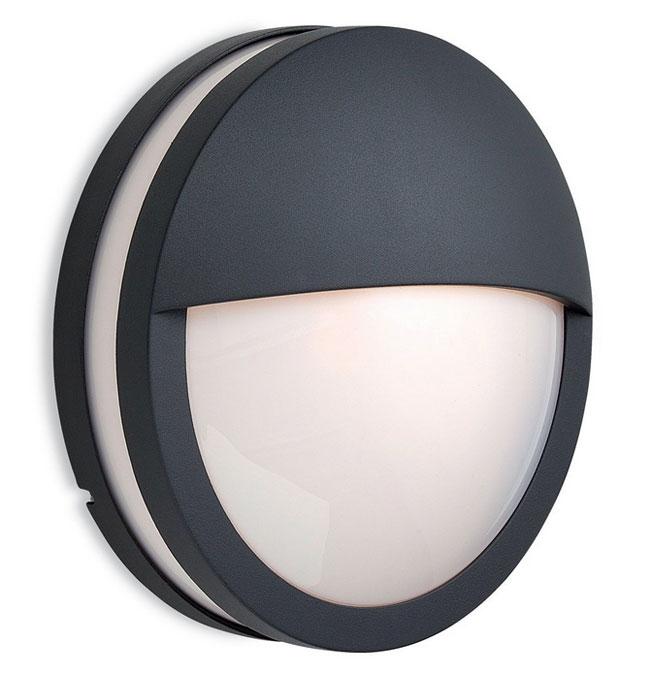 8356gp Ip54 Zenith Round Eyelid Bulkhead In Graphite