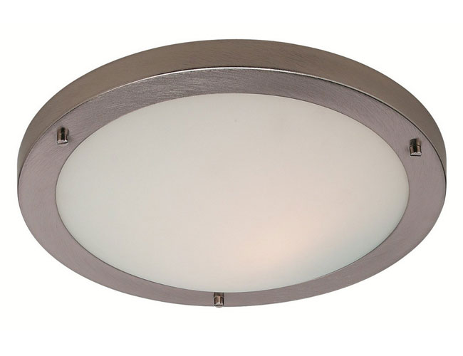 Firstlight Slimline Led Bathroom Wall Light In White: IP44 11W Rondo LED Flush Bathroom Light In