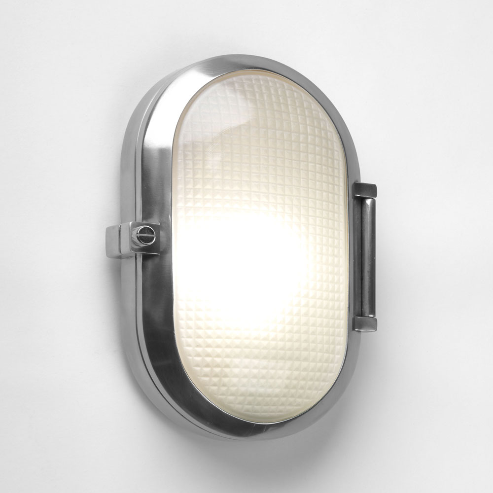 Outdoor mount bulkhead wall light IP54 Finished in black up or down E27 lighting