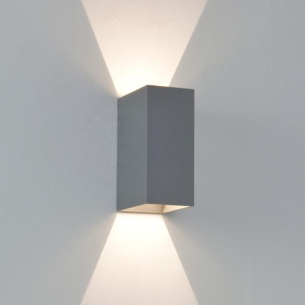Ax7060 Oslo 160 Painted Silver Ip65 Up And Down Led Wall