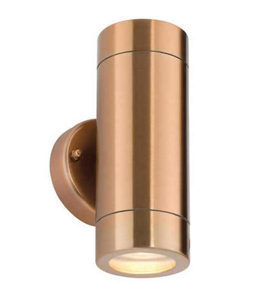 Copper Up-and-down Outdoor Wall Light, IP65 Rated Copper Effect Exterior Wall Lamp CO2WL ...