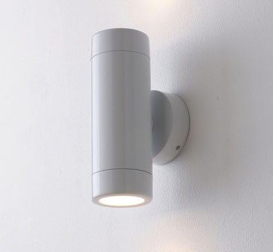 Exterior Wall Lights White : White Up-and-down Outdoor Wall Light, IP65 Rated Gloss White Exterior Wall Fitting WH2WL ...