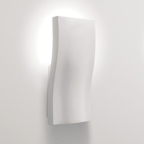 Curved Plaster Wall Lights : S-Light Plaster Curved Wall Uplight, Paintable Wall Fitting for Interior Lighting AX0978