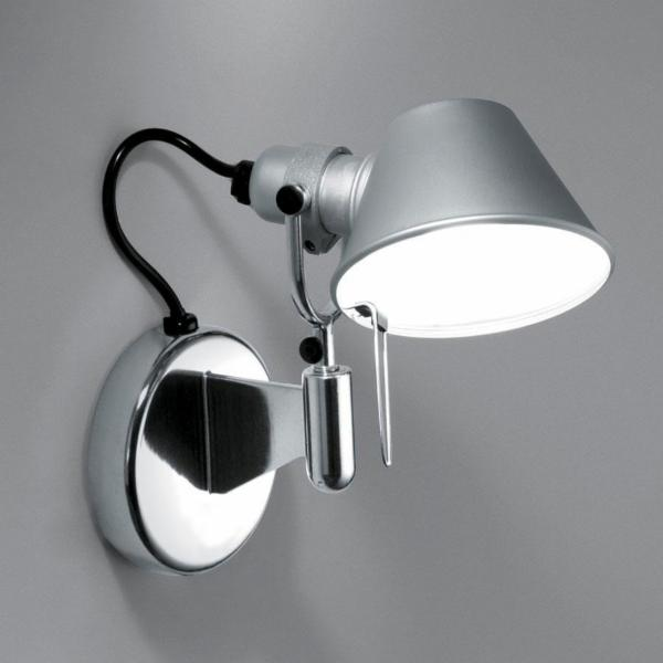 artemide tolomeo micro faretto wall light with fully rotational aluminium diffuser ay471. Black Bedroom Furniture Sets. Home Design Ideas