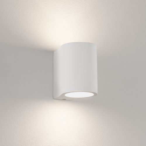 Paintable Plaster Wall Lights : Pero White Plaster Wall Light, Paintable and Dimmable Up-and-Down Wall Fitting AX0812