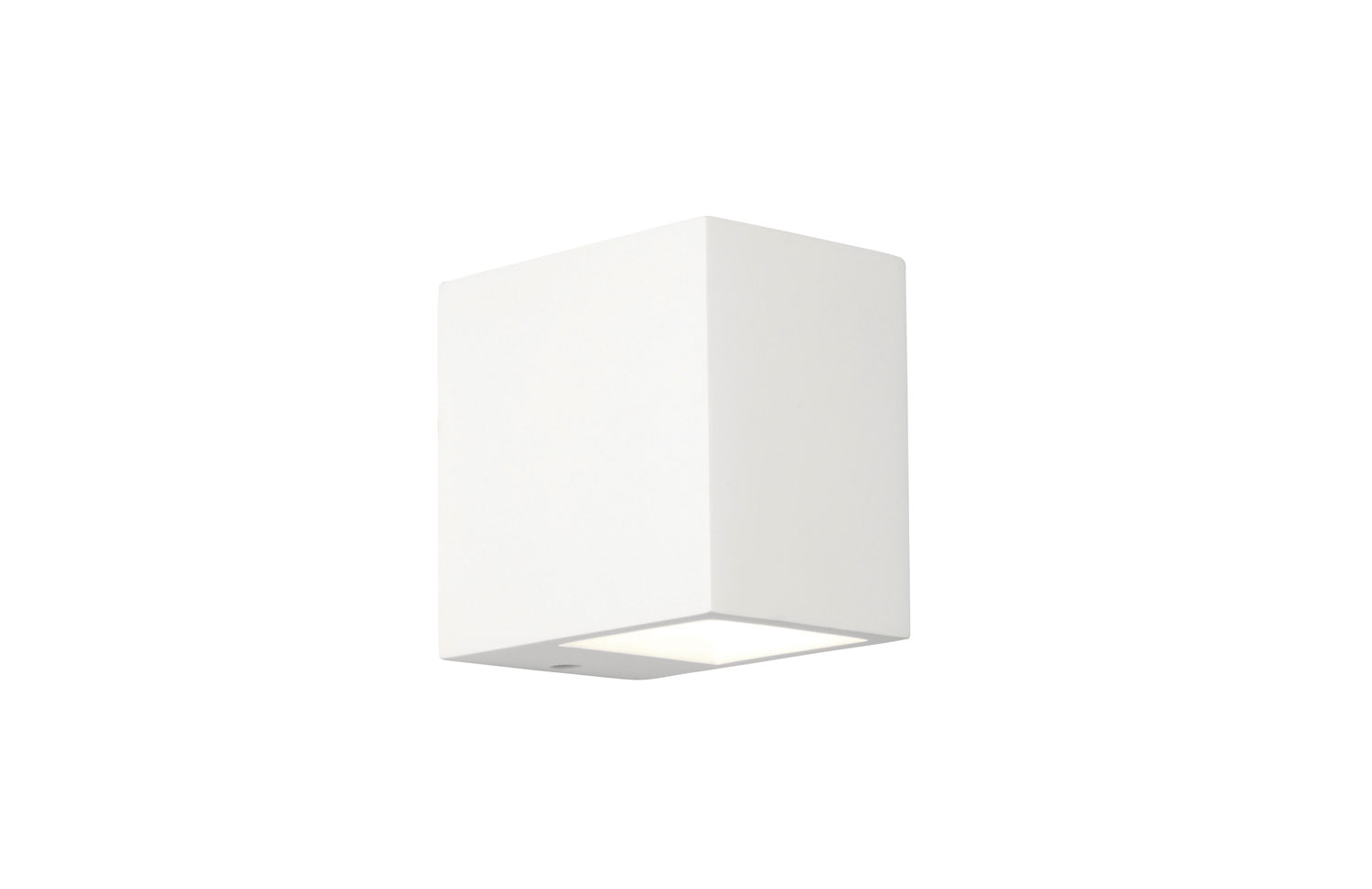 Mosto White Plaster Wall Light, Paintable Rectangular Wall Fitting 40W G9 IP20 AX0813