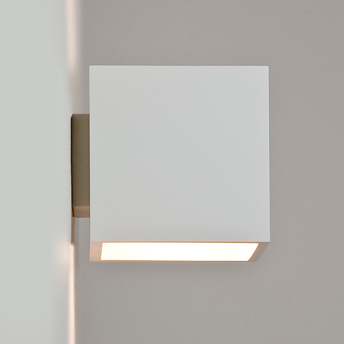 Indoor Wall String Lights : Pienza Plaster Square Wall Light, Paintable white Astro 0917 plaster wall fitting AX0917 ...