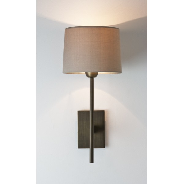 Bronze Wall Lights: AX0922 - Astro 0922 Lloyd Bronze Wall Lamp with Tapered Drum Shade (shade  not included),Lighting