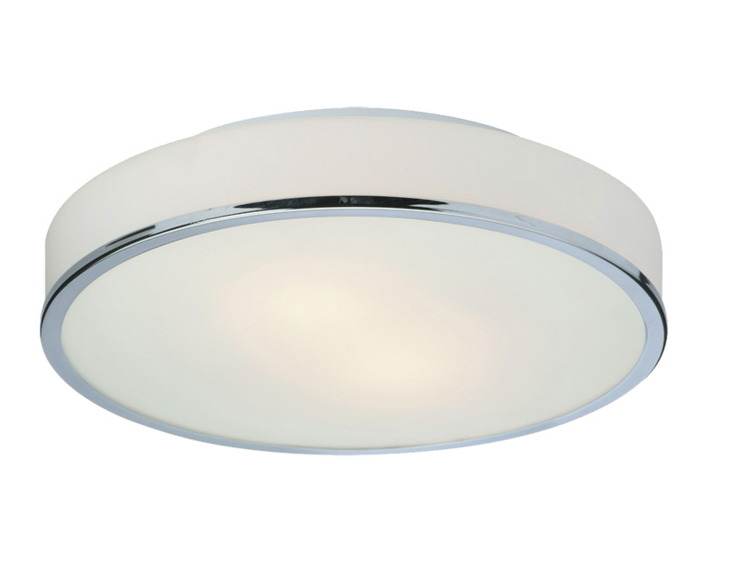 Firstlight Slimline Led Bathroom Wall Light In White: Firstlight 5756CH Profile Round Flush Ceiling