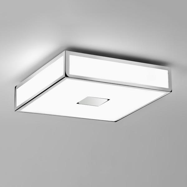 led square bathroom ceiling light in polished chrome ip44 14 3w led