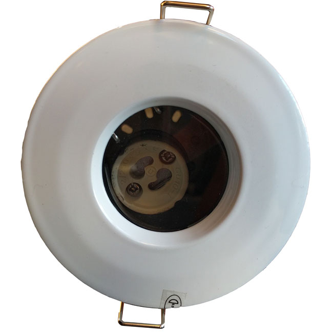 Frsmbw Ip65 Fire Rated Gu10 Fixed Downlight In White