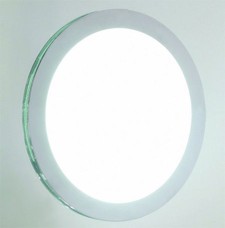0525 lens 200 ip44 round bathroom wall lamp mirror - Round bathroom mirror with lights ...