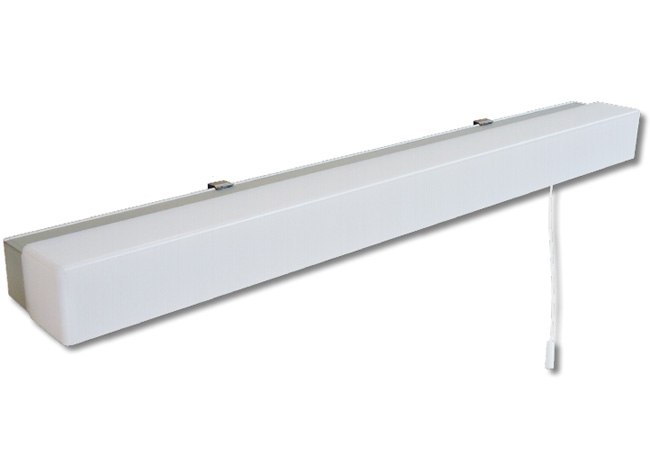 Firstlight Slimline Led Bathroom Wall Light In White: 10W Over Mirror Warm White LED Light 3000K 750lm