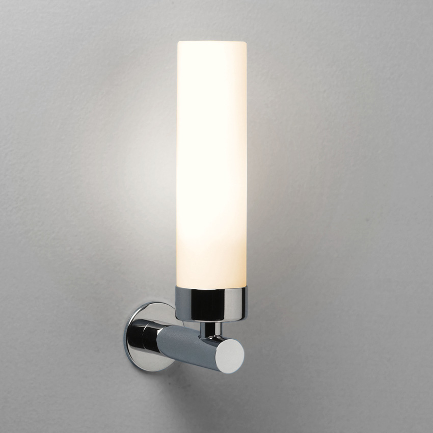 Ax0274 Tube Bathroom Wall Light With Polished Chrome Arm