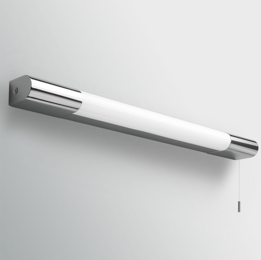 Ax0781 Palermo 600 Switched Bathroom Wall Light In Chrome With Diffuser And Pull Cord Switch
