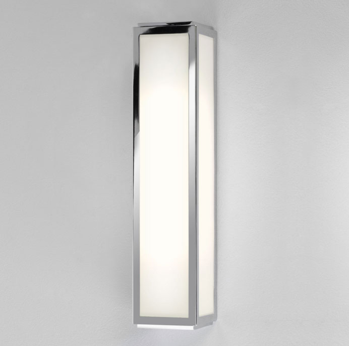 ax0845 mashiko 360 classic bathroom wall light ip44 in chrome with white glass diffuser astro