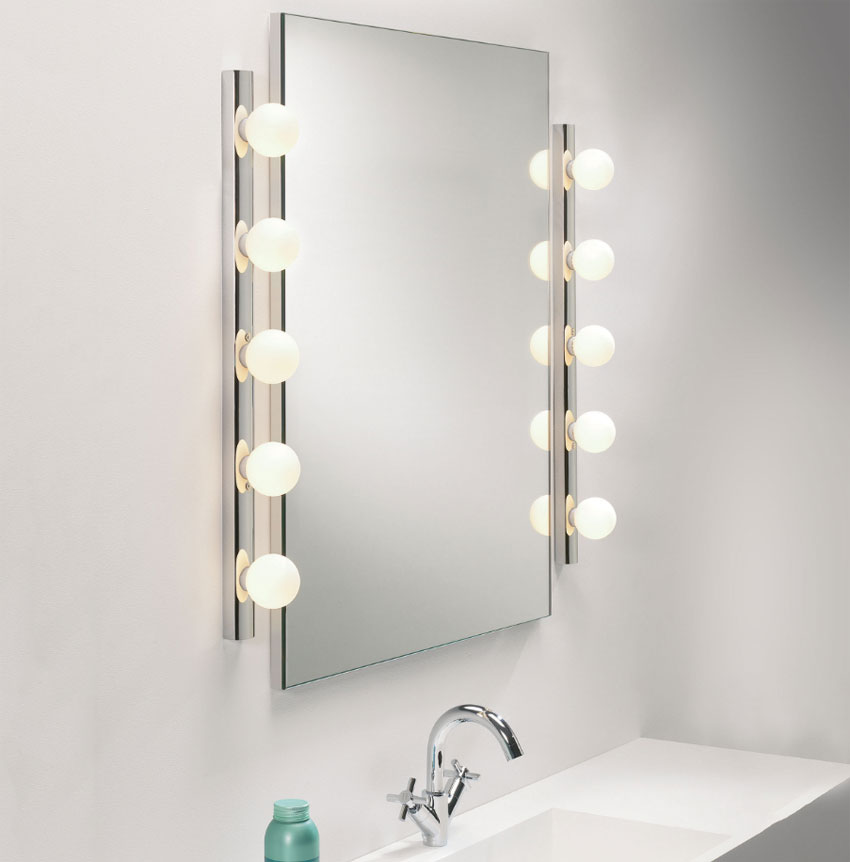 Cabaret Bathroom Wall Light With 5 Globes And Pull Cord Switch, Astro 0957 IP44