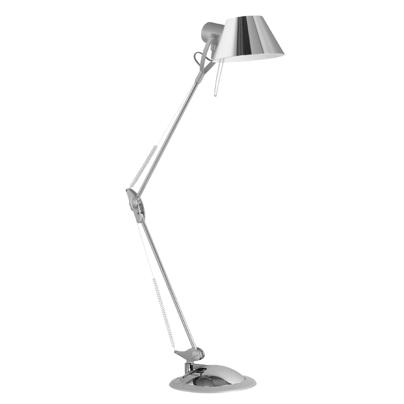 office table lamp adjustable desk lamp for office in a chrome finish
