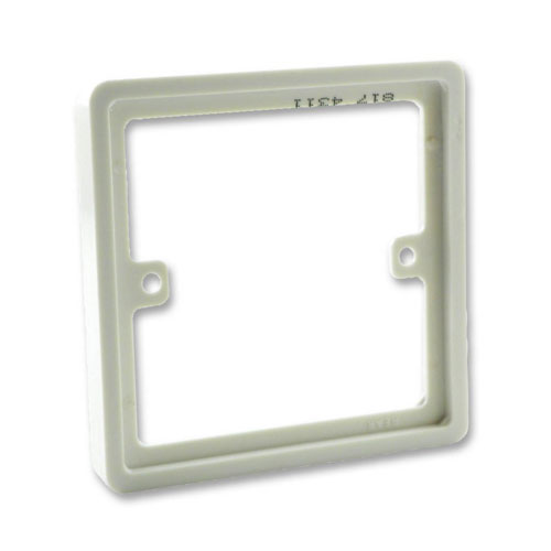 817 Bg Nexus 817 1 Gang 10mm Square Spacer White Moulded For 1 Gang Wiring Devices