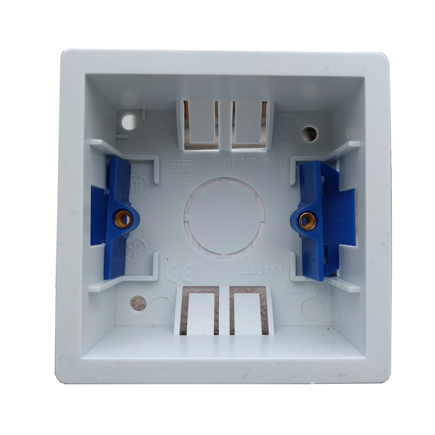 Dls 1 Gang 35mm Deep Dry Lining Box In White Plastic Bg