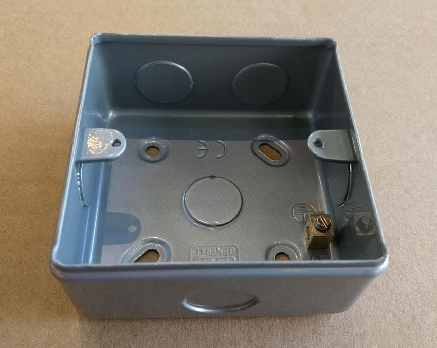 Mc501 Bg Mc501 1 Gang Surface Back Box Square Metalclad