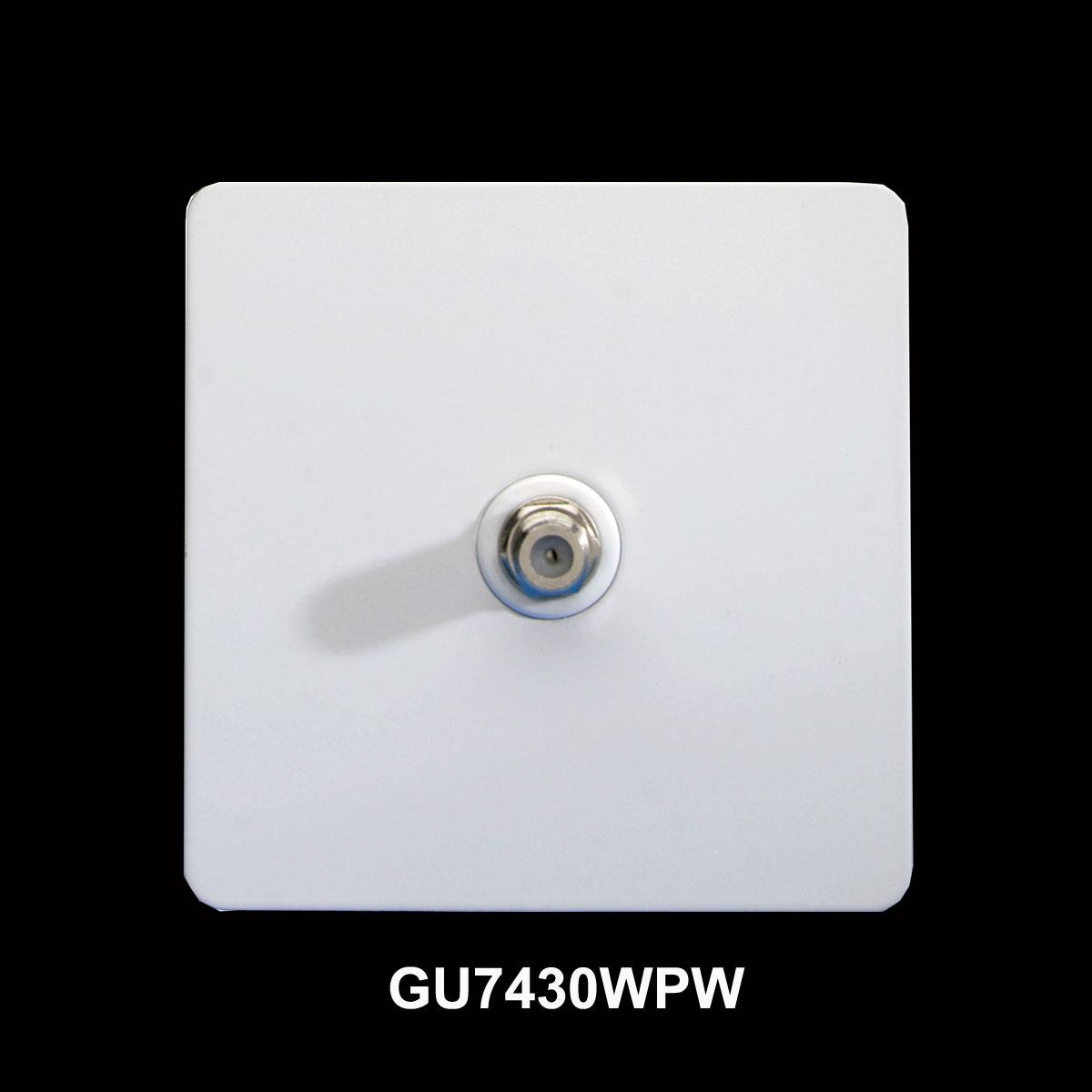 Amity 5l Pendant Brushed Chrome: Screwless 1 Gang Single Satellite Socket In