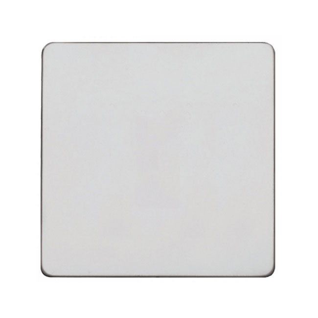 Primed White Screwless 1 Gang Blank Plate