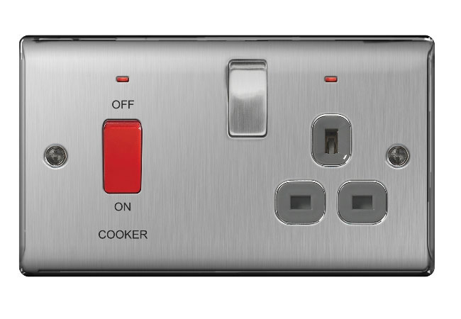 Cooker Control Unit ~ Nbs g gang cooker control unit a dp switch with