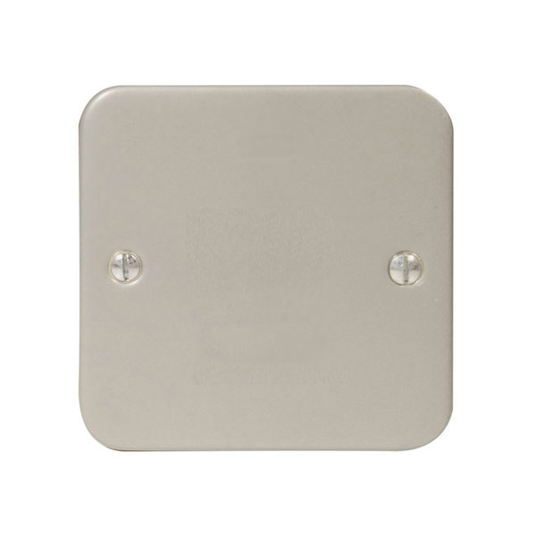 1 Gang Metal Clad Blanking Cover Plate, Single