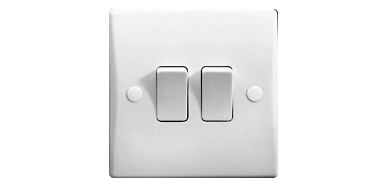 White Switches   Plastic Sockets   Sparks Direct:White Plastic Switches and Sockets,Lighting